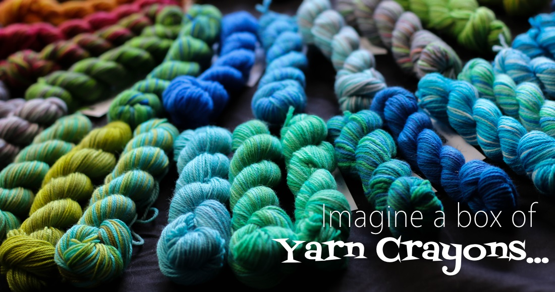 Imagine a box of yarn crayons 2015.12.10