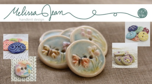 Melissa Jean handmade ceramic buttons for knitters and crocheters