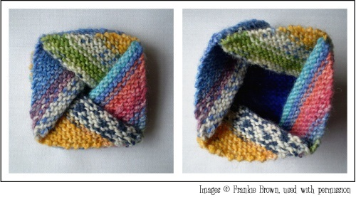 Knitted Pinwheel Purse by Frankie Brown