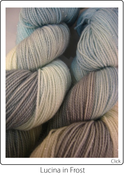 SpaceCadet Creations Lucina Fingering weight knitting or crocheting yarn in Frost