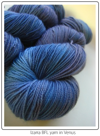 Izarra BFL knitting yarn in Venus, exclusive to SpaceCadet Creations InterStellar Yarn Alliance yarn club