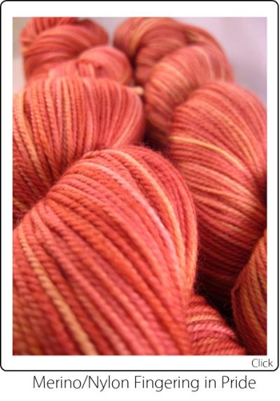 SpaceCadet Creations Merino and Nylon Fingering weight knitting or crocheting yarn in Pride