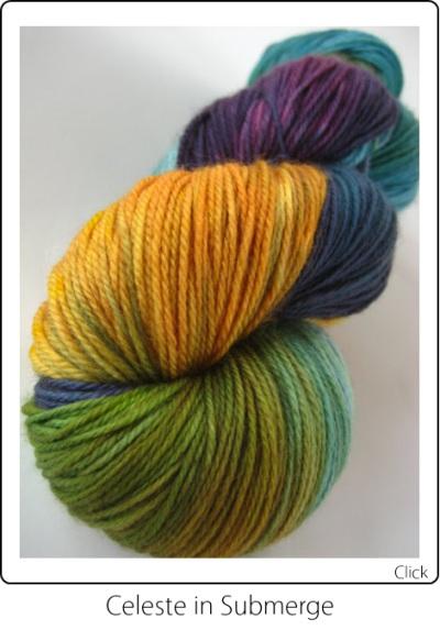 SpaceCadet Creations Merino and Nylon Fingering weight knitting or crocheting yarn in Submerge