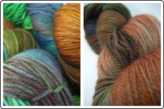 SpaceCadet Creations merino and nylon fingering yarn for knitting and crochet