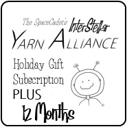 The SpaceCadet's InterStellar Yarn Alliance yarn club Holiday Gift Subscription PLUS 12 Months