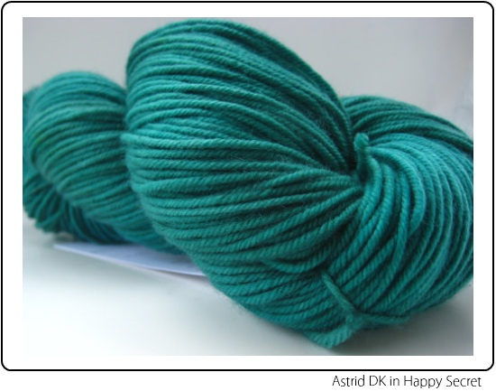 SpaceCadet Astrid DK Yarn in Happy Secret, for knitting or crochet