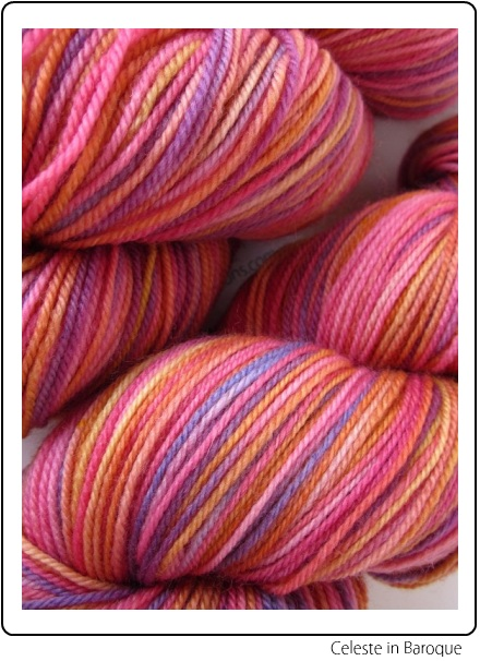 SpaceCadet Creations Celeste fingering weight yarn for knitting and crochet, in Baroque