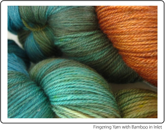 SpaceCadet Fingering Yarn with Bamboo in Inlet, for knitting or crochet