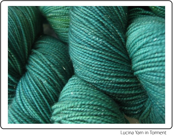 SpaceCadet Lucina Fingering Yarn with Sparkles in Torment, for knitting or crochet