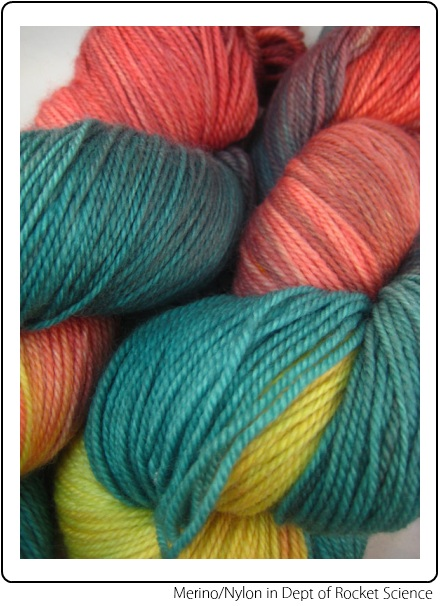 SpaceCadet Creations fingering weight yarn for knitting and crochet