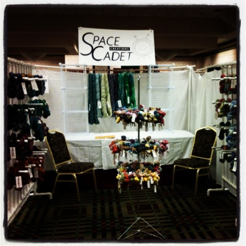 The SpaceCadet's booth at the Pittsburgh Knit and Crochet festival