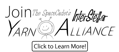 Click here to learn more or to join the SpaceCadet's InterStellar Yarn Alliance yarn club for knitters and crocheters