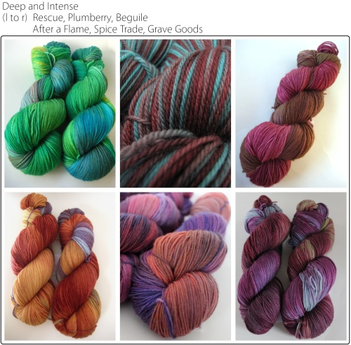 Deep and Intense SpaceCadet yarns for knitting and crochet