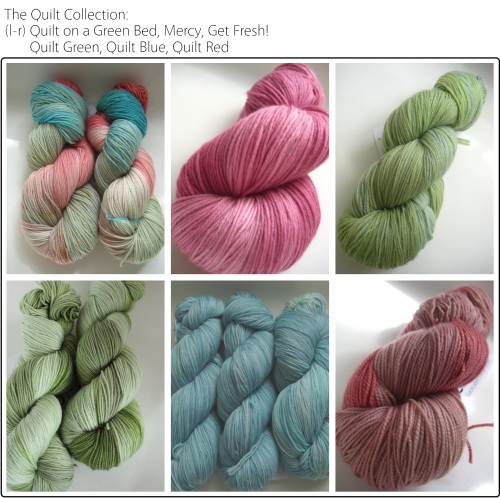SpaceCadet Creations Quilt Collection yarns for knitting and crochet