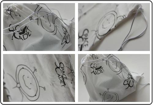 Custom SpaceCadet project bag, for SpaceCadet Creations InterStellar Yarn Alliance yarn club
