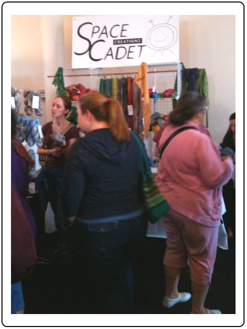 The SpaceCadet booth at HomeSpun Yarn Party