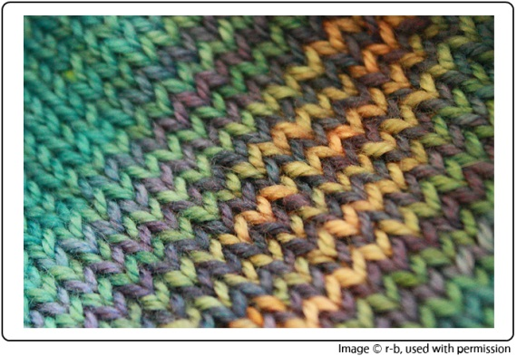 Rebecca's Submerge Socks, knit from SpaceCadet Creations yarn