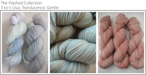SpaceCadet Creations Washed Collection of yarns for knitting and crochet