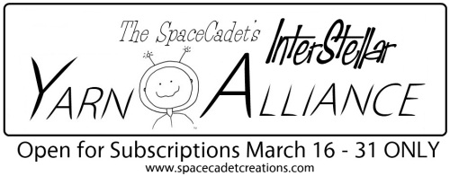 SpaceCadet Creations InterStellar Yarn Alliance yarn club will open for subscriptions from March 16-31 only