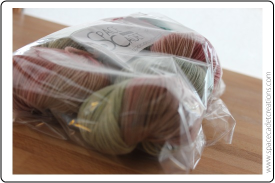 All SpaceCadet knitting and crochet yarns are delivered in a plastic bag to keep them safe and dry
