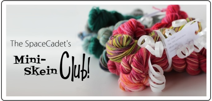 SpaceCadet Creations Mini-Skein Club for knitters and crocheters