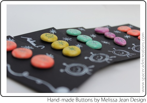 Hand-Made SpaceCadet Buttons by Melissa Jean Design