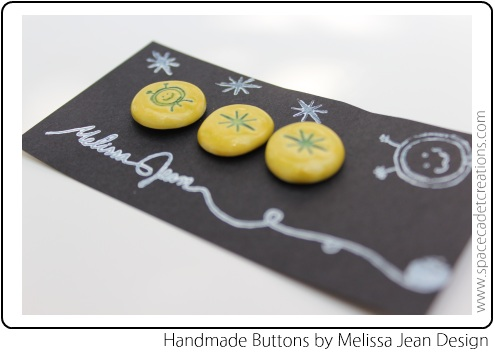 Hand-Made SpaceCadet Buttons by Melissa Jean Designs