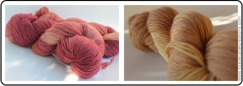A Duo of Yarns from SpaceCadet Creations for the Different Lines shawl or Stripe Study Shawl by Veera Välimäki
