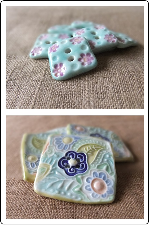 Gorgeous handmade buttons by Melissa Jean Design
