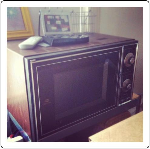 The biggest, oldest microwave I've ever seen!