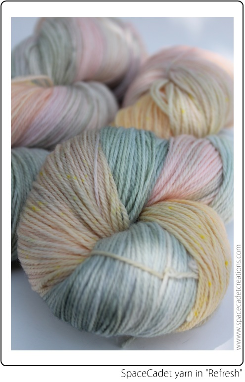 "SpaceCadet yarn for the InterStellar Yarn Alliance in ""Refresh"""
