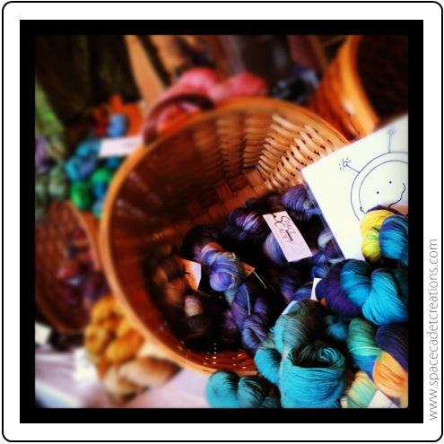 SpaceCadet Creations yarn Trunk Show