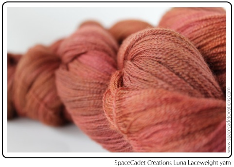 SpaceCadet Creations Luna Laceweight yarn in Merino and Silk for knitting and crochet