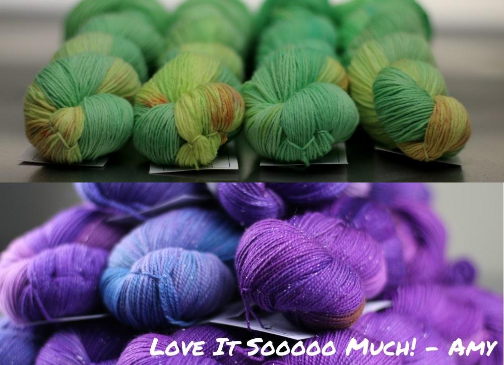 Two Yarn Alliance colourways 2015