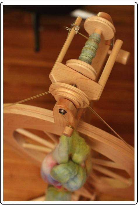 Spinning SpaceCadet hand-dyed fiber