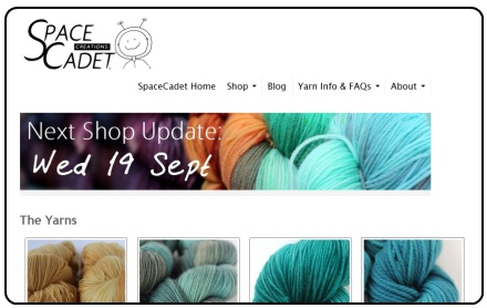 Click to see the SpaceCadet's new yarn shop!