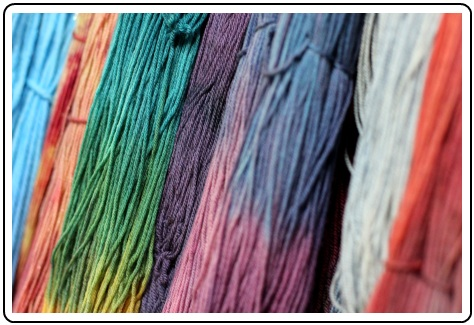SpaceCadet hand-dyed yarn, ready for Rhinebeck