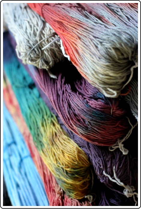 SpaceCadet hand-dyed yarns, ready for Rhinebeck