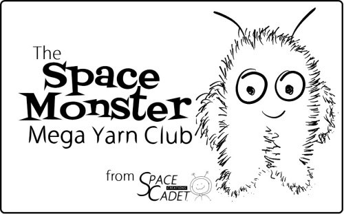 The SpaceMonster Mega Yarn Club, from SpaceCadet Creations