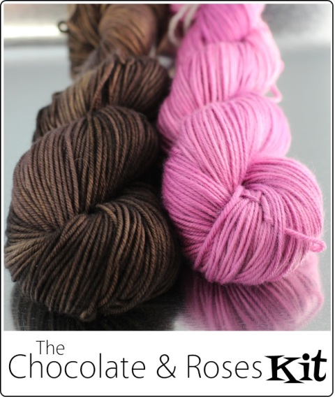 The Chocolate & Roses Kit for the Love Actually KAL from SpaceCadet Creations