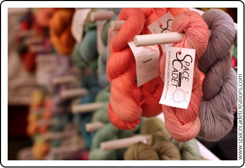 SpaceCadet Creations at HomeSpun Yarn Party