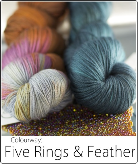 SpaceCadet Creations kit in FiveRings&Feather for Laura Nelkin's Juego Mystery KAL