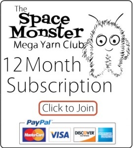 Click Here to grab a 12 Month Subscription to the SpaceMonsters MegaYarn Club