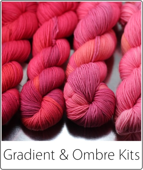 SpaceCadet Ombre and Gradient Yarn Kits (Colourway: Crush)