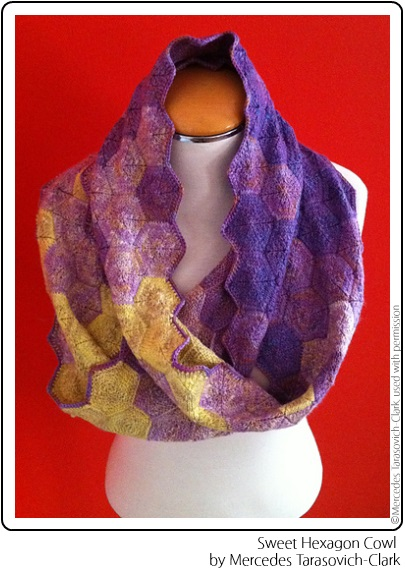 The Sweet Hexagon Cowl by Mercedes Tarasovich-Clark