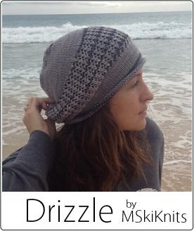 Drizzle hat by MSkiKnits in SpaceCadet Lyra yarn