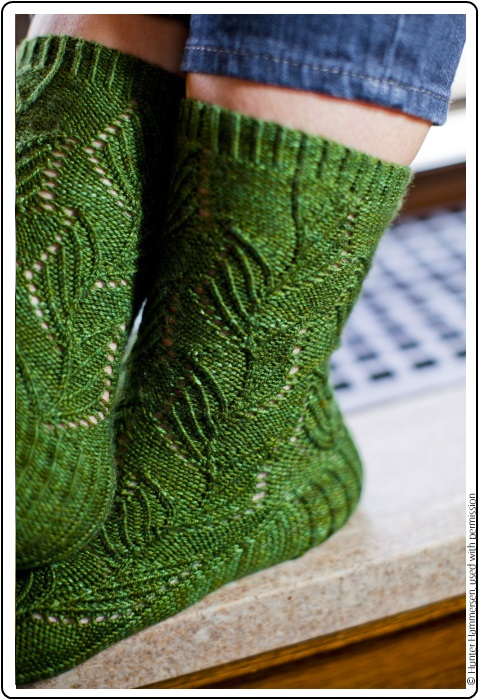 Narcissus pseudo-narcissus Sock by Hunter Hammersen