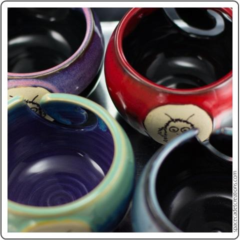 Yarn Bowls by Amanda Pawley, custom made for the SpaceMonsters Mega Yarn Club