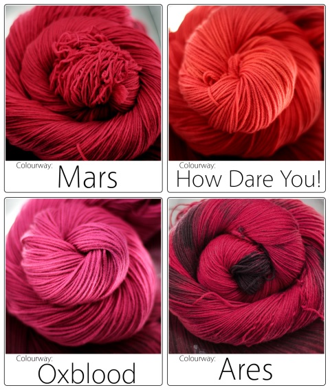 New SpaceCadet Colourways - Ares, Mars, How Dare You, and Oxblood