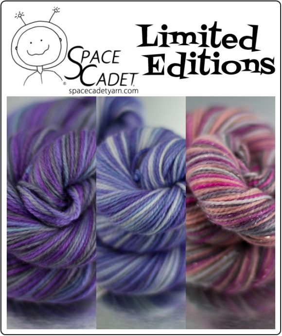 SpaceCadet Yarn Limited Editions Colourways, June 2014